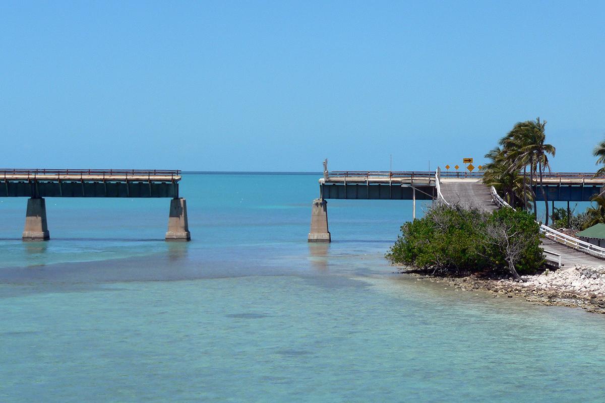 Die alte 7-Mile-Bridge