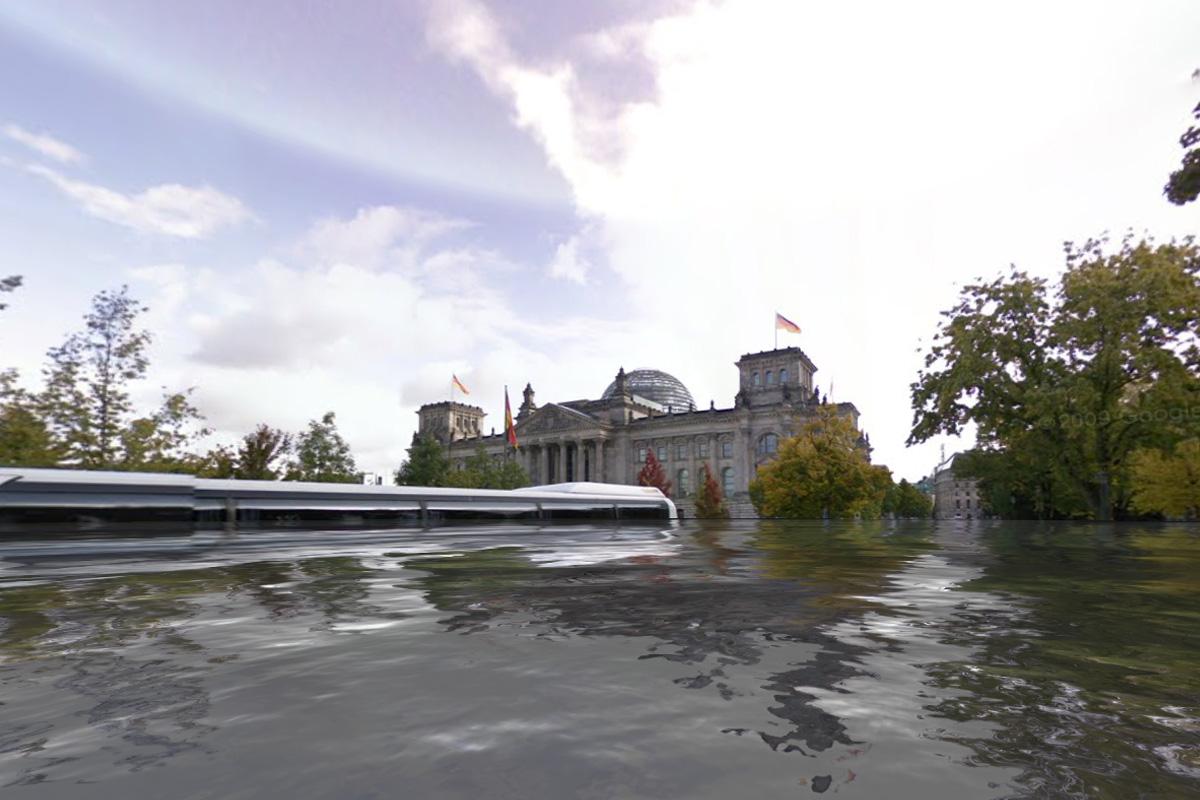 Bundestag unter Wasser