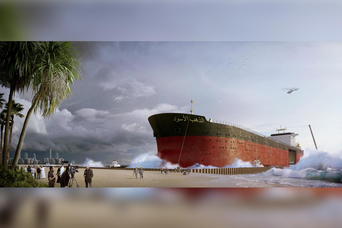Berichterstattung ist garantiert: Ein echter Super-Tanker