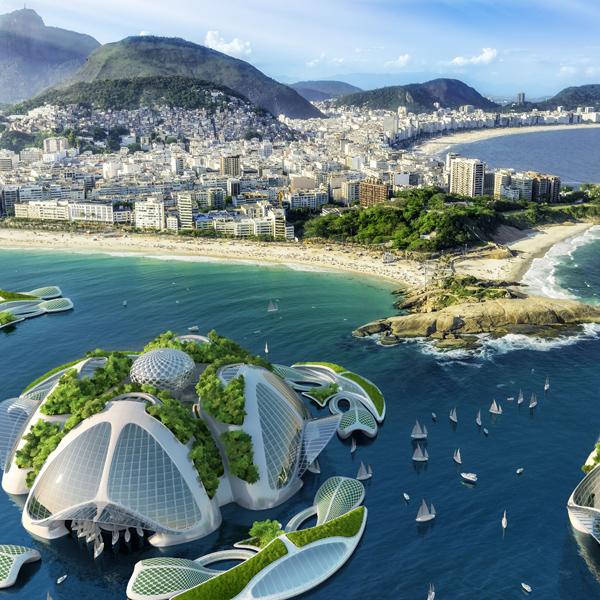 Insel-Stadt aus dem 3D-Drucker